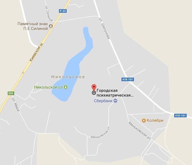 Схема больницы кащенко
