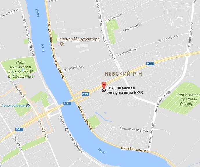 гинекология 33 невского района